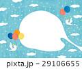 青空を舞う鳥と風船 29106655