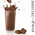 チョコレート 落ちる 落下のイラスト 29110066