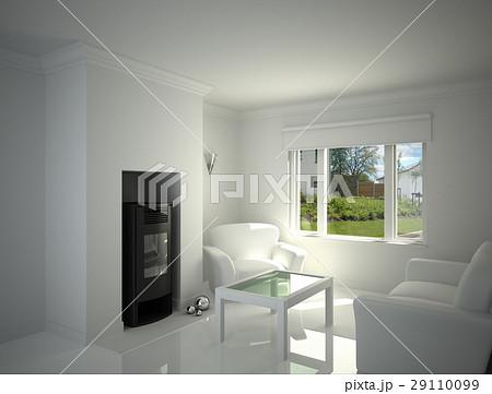 White livingroom.のイラスト素材 [29110099] - PIXTA