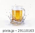 ビール マグカップ しぶきのイラスト 29110163