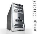 デスク PC シルバーのイラスト 29110526