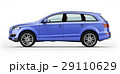 Blue automobile, luxury SUV. Isolated on white. 29110629