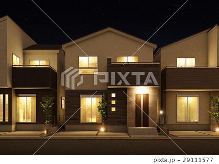 戸建住宅 夜景 29111577