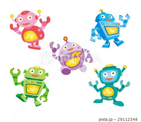 ロボットロボットイラストaiロボットロボキャラのイラスト素材