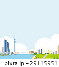 町並み 川 風景のイラスト 29115951