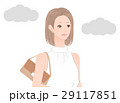 曇り空と女性 29117851