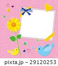 小鳥とひまわり フォトフレーム 29120253