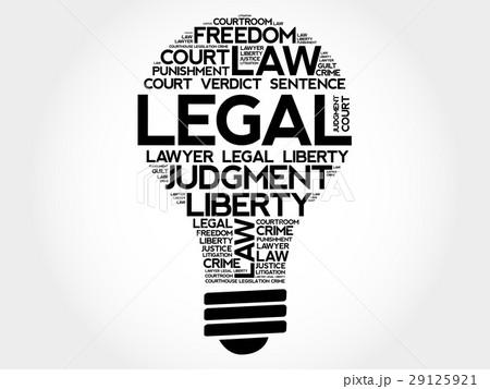 legal bulb word cloud collageのイラスト素材 29125921 pixta