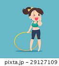 Young attractive woman holding hula hoop 29127109
