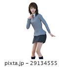 女子高生 学生服 ポーズのイラスト 29134555