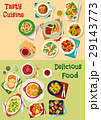 French, mexican, russian cuisine dishes icon set 29143773