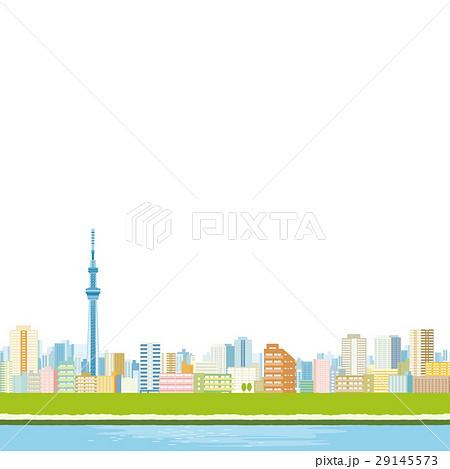 東京スカイツリーと町並み 29145573