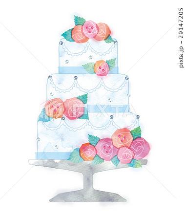 ウェディングケーキのイラスト 29147205