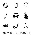 Vector black golf icons set 29150701