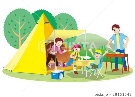 家族でキャンプ 29151545