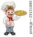シェフ 料理人 ピザのイラスト 29151880
