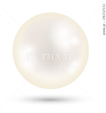 a white bright pearl on a white background 29152531