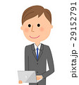 ビジネスマン ノートパソコン 29152791