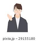 サポートセンター・コールセンターのオペレーター受付女性のシンプルなベクターイラスト素材 29155180