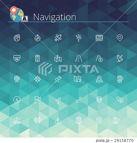 Navigation Line Icons 29156770