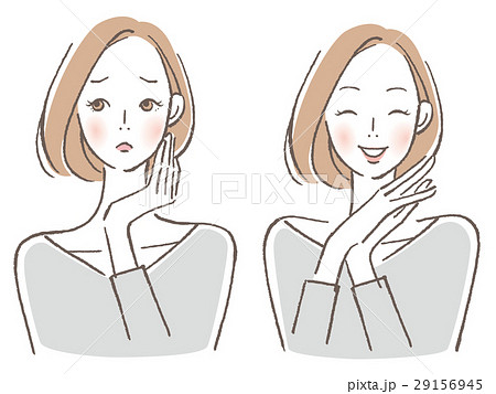 女性 悩み喜び セット 29156945