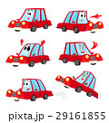 Cute and funny red car, automobile character 29161855