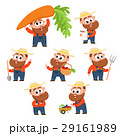 Funny farmer, gardener character in different 29161989