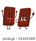 Two funny chocolate bar characters, one jumping 29162468