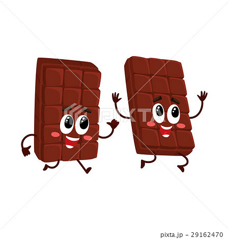 Funny chocolate bar characters, one chasingのイラスト素材 [29162470] - PIXTA