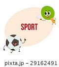 サッカー ボール ラケットのイラスト 29162491