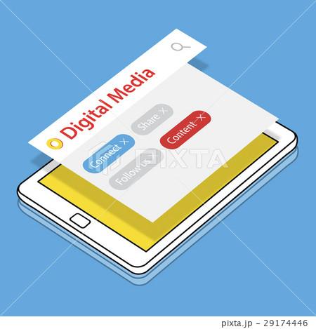 Blog Online Get In Touch Digital Community Mediaのイラスト素材 [29174446] - PIXTA