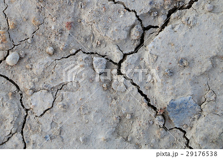 cracked clay ground into the dry season,  29176538