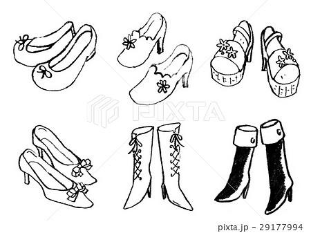 女性靴のイラスト素材 [29177994] , PIXTA