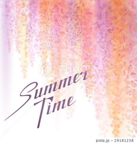 Spring background with blooming wisteria 29181238