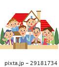 三世代家族 家 家族のイラスト 29181734