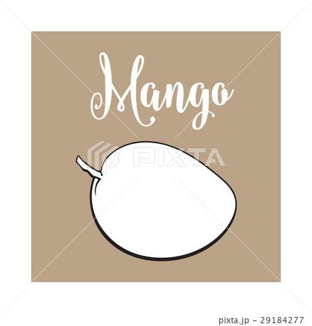 Whole unpeeled, uncut sweet mango tropical fruit 29184277