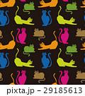 猫 カラフル ねこ模様のイラスト 29185613