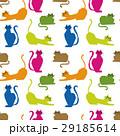 猫 カラフル ねこ模様のイラスト 29185614