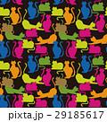 猫 カラフル ねこ模様のイラスト 29185617