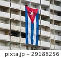 Cuban Flag on Residential Building in Havana, Cuba 29188256