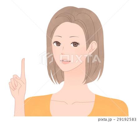 指差しをする女性 29192583