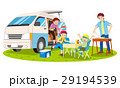 キャンピングカーとバーベキュー 29194539