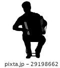 Silhouette musician, accordion player  29198662