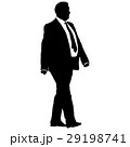 Silhouette businessman man in suit with tie  29198741