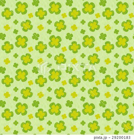 風合いのあるかわいらしい四葉のクローバーのシームレスパターン テクスチャ 29200183