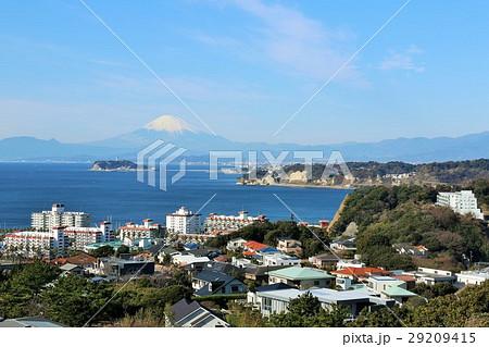 神奈川県 海と富士山の見える風景 29209415