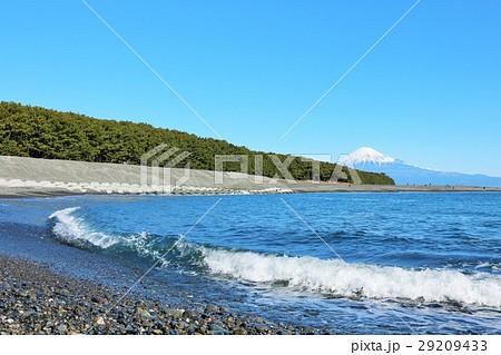 富士山と海の風景 29209433