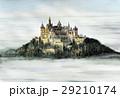 ホーエンツォレルン城 世界遺産 ヨーロッパの古城 水彩画 29210174