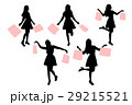 silhouette of woman 29215521