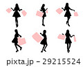 silhouette of woman 29215524